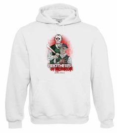 "Kapuzen Sweatshirt ""Brothers of Horror"" Fruit of the Loom, Beuteltasche, 80% Baumwolle"