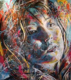 Without aid of stencils or brushes London-based artist David Walker creates elaborately explosive portraits using directly applied spray paint. Description from neverchill.com. I searched for this on bing.com/images