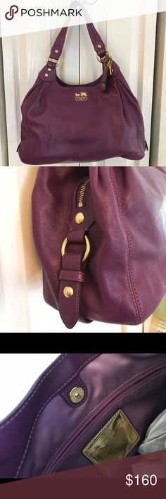 Coach Handbag Plum Coach Handbag. Details to come. Purchased at Coach full retail store. Clean stored in dust bag. Dust bag included. Coach Bags Satchels