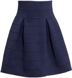 H&M Textured Skirt - Dark blue