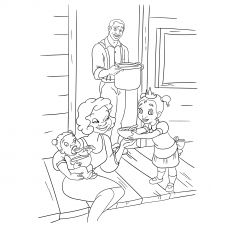 James And Eudora With Baby Tiana Frog Coloring Pages Coloring Pages Disney Coloring Sheets