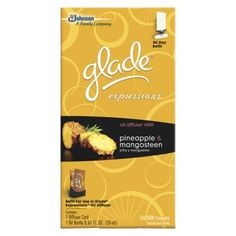 Glade Expressions Oil Diffuser Refill, Pineapple & Mangosteen - .6oz  - I just LOVE this stuff!  Awesome fragrance, perfect for bathrooms.  Lasts much longer than advertised - my first one lasted about 6 or 7 weeks.
