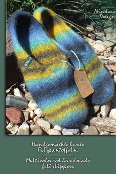 HAUNOLD | Filzhausschuhe aus 100% reinem Wollfilz in grau
