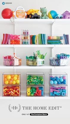 New and exclusive products for organizing toys and games from The Home Edit & The C . New and exclusive products for organizing toys and games from The Home Edit & The Container Store. Playroom Organization, Container Organization, Organization Ideas, Organized Playroom, Pantry Organisation, Ideas Prácticas, The Home Edit, Organizing Your Home, Organizing Toys