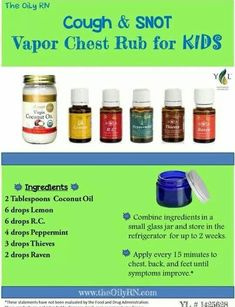 Cough and Snot Vapor Rub
