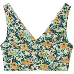 【ELLE SHOP】FLOWER BUTCHER BRA トップアイボリー|アウラ アイラ(AULA AILA)|エル・ショップ ($66) ❤ liked on Polyvore featuring tops, crop tops, underwear and aula aila