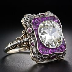 Antique Diamond and Amethyst ring