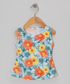 Take a look at this Blue Johanna Tank - Infant by Luca Charles on #zulily today!