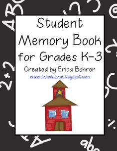 end of the year memory book for K-3.