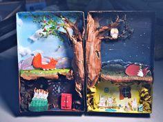 Fox & Rabbits Diorama by Abigail Goh En Qi Fox Habitat, Shoe Box Diorama, Activities For Kids, Crafts For Kids, Fox And Rabbit, Kids Class, Tiny World, Fox Art, Little Learners