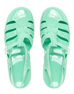 Juju Maxi Mint Slingback Flat Shoes