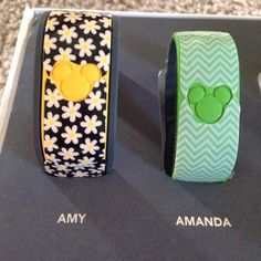 My Magic Bands decorated with Jamberry nail wraps!!  $15 a sheet!!  amyorlick.jamberry.com