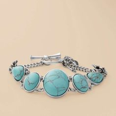 Turquoise Stone Bracelet from Fossil!