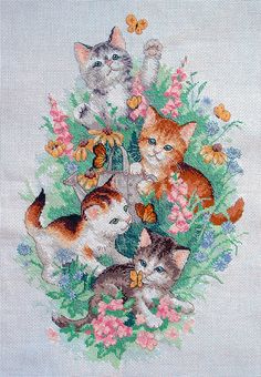dimensions playful kittens cross stitch