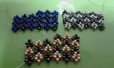 Hubble stitch samples in different colours