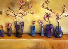 Magnolias & roses by Liesel Brune