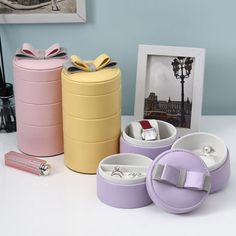 Bowknot PU Jewel Case Candy Color PU Travelling Jewelry Box – I sell what I love Leather Jewelry Box, Bow Jewelry, Small Jewelry Box, Leather Ring, Leather Necklace, Jewelry Case, Jewelry Ideas, Pu Leather, Ring Storage
