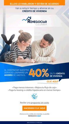 #NOVOCLICK esta con #Renegociar Colombia #Ahorra hasta un #40% en tu #crédito de #vivienda E-mail Marketing, Financial Statement, Colombia