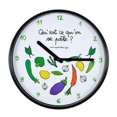 """Horloge """"Qu'est ce qu'on se poêle ?"""""""