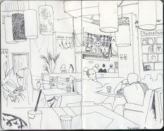 Ekaterina Khozatskaya - Urban Sketchers: restaurant