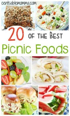 20 of the Best Picnic Foods Make your next picnic even better with 20 of the best picnic food, including recipes from salads to sandwiches and from dessert to fruit. Beach Picnic Foods, Picnic Date Food, Best Picnic Food, Healthy Picnic Foods, Picnic Menu, Picnic Dinner, Picnic Lunches, Beach Meals, Healthy Recipes