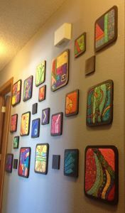 wall quilts in frames