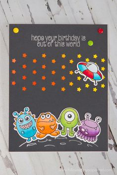 46 best Clearly Besotted images on . Kids Birthday Cards, Handmade Birthday Cards, Boy Cards, Kids Cards, Monster Party, Sloth Happy Birthday, Paper Crafts Origami, Scrapbook Cards, Scrapbooking