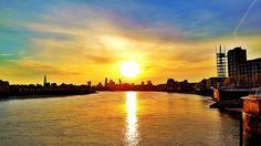 Another amazing sunset over London...not complaining!  #london #cityoflondon #thames #sunset #sky #uk #hues #orange #water #reflections #sun #golden #nature #beautiful #amazing #evening by rsklondon