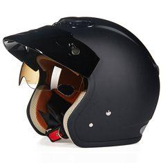 84.51$  Watch now  - Cruiser Motorcycle Helmet Chopper 3/4 Open Face Vintage Helmet 3812 Moto Casque Casco motocicleta Capacete Pilot helmets