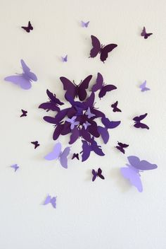 Free US Shipping 30 3D Butterfly Wall Art Circle Burst by LeeShay, $20.00