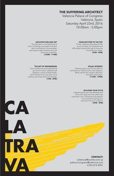 Alejandro Alvarez - architectural poster - Calatrava The Suffering Architect (3)