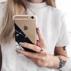 Transparent Marble iPhone Case Transparent Case Clear by CRCases