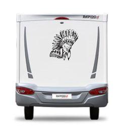 american red indian chief motorhome  camper van by directdecals