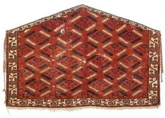 Lot 25: A very rare Tekke animal tree asmalyk, Turkmenistan, 18th/19th century, 91 x 140 cm. Nagels upcoming special carpet sale 24 March 2015 in Stuttgart
