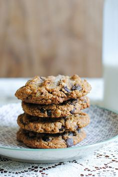 Rye, Maple, and Chocolate Chip Cookies