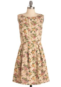 cottage rose dress (dress is simple, but I MUST find this fabric!!!) also available at http://shopruche.com/peony-pink-printed-dress-by-pink-martini.html