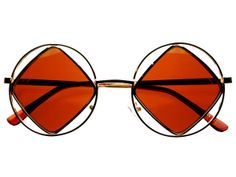 Hippie Retro Vintage Fashion Metal Round Sunglasses Gold R904