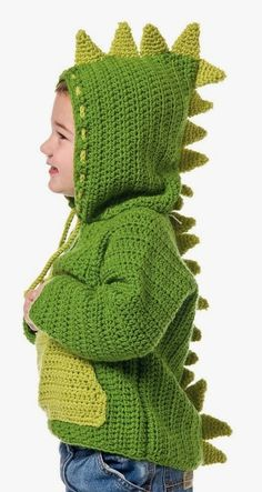 15 Ideas Crochet Baby Boy Sweater Hoodie For 2019 Crochet Baby Jacket, Crochet Baby Bonnet, Baby Blanket Crochet, Hat Crochet, Crochet Dinosaur Hat, Baby Boy Sweater, Baby Sweaters, Sweater Hoodie, Knitting Patterns Boys