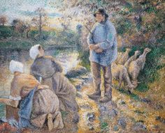 The Washerwomen, 1881 by Camille Pissarro, 1831-1903, oil on canvas