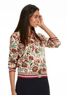Silkejakke print 136899 Maison Scotch Silk Shirt Jacket