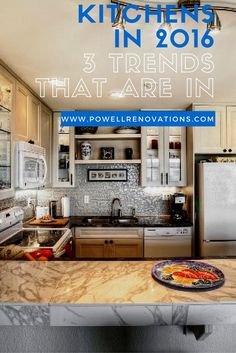 Prop tips from new home builders and remodelers in the Seattle area for kitchen design based on 2016 kitchen trends. http://info.powellrenovations.com/kitchens-in-2016-3-features-that-are-in