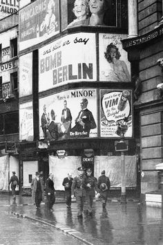 From a choice billboard spot on London?s busy strand, this sign advocates in plain language that the R.A.F. carry out reprisals for German Luftwaffe attacks in London, Oct. 18, 1940