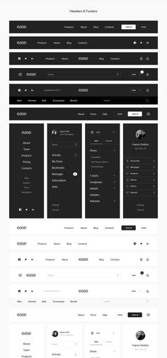 Ease UI Components on Behance - Love a good success story? Learn how I went from zero to 1 million in sales in 5 months with an e-commerce store. Wireframe Design, Navigation Design, Footer Design, Web Design Tips, Dashboard Design, User Interface Design, Ux Design, Design Websites, Web Design Projects
