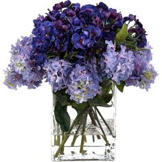 John-Richard Rhapsody in Blue Botanical ($438) ❤ liked on Polyvore featuring home, home decor, floral decor, flowers, decor, filler, plants, glass flower stems, flower bouquets and blue home decor