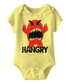Banana 'Hangry' Bodysuit - Infant  for Mommy's Little Monster #zulilyfinds