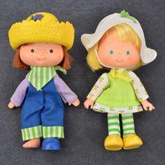 Vintage 1979 STRAWBERRY SHORTCAKE Dolls HUCKLEBERRY PIE Mint TULIP #AmericanGreetings #Dolls