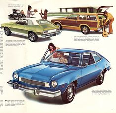 1974 Pinto Brochure - my first car--it was silver, and fun to drive up and down the mountain. Cars Usa, Us Cars, Retro Cars, Vintage Cars, Vintage Auto, Ford Pinto, Mclaren Mercedes, Ford Lincoln Mercury, Chrysler Jeep