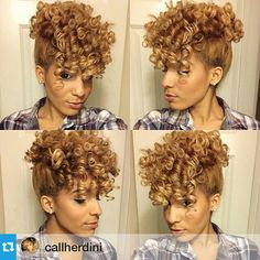 Curly Natural Hair Mohawk