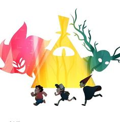 I don't watch Steven Universe or Over the Garden Wall but this is cool