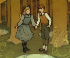 """Digory and Polly in The Wood Between the Worlds - """"The Magician's Nephew"""" The Chronicles of Narnia"""